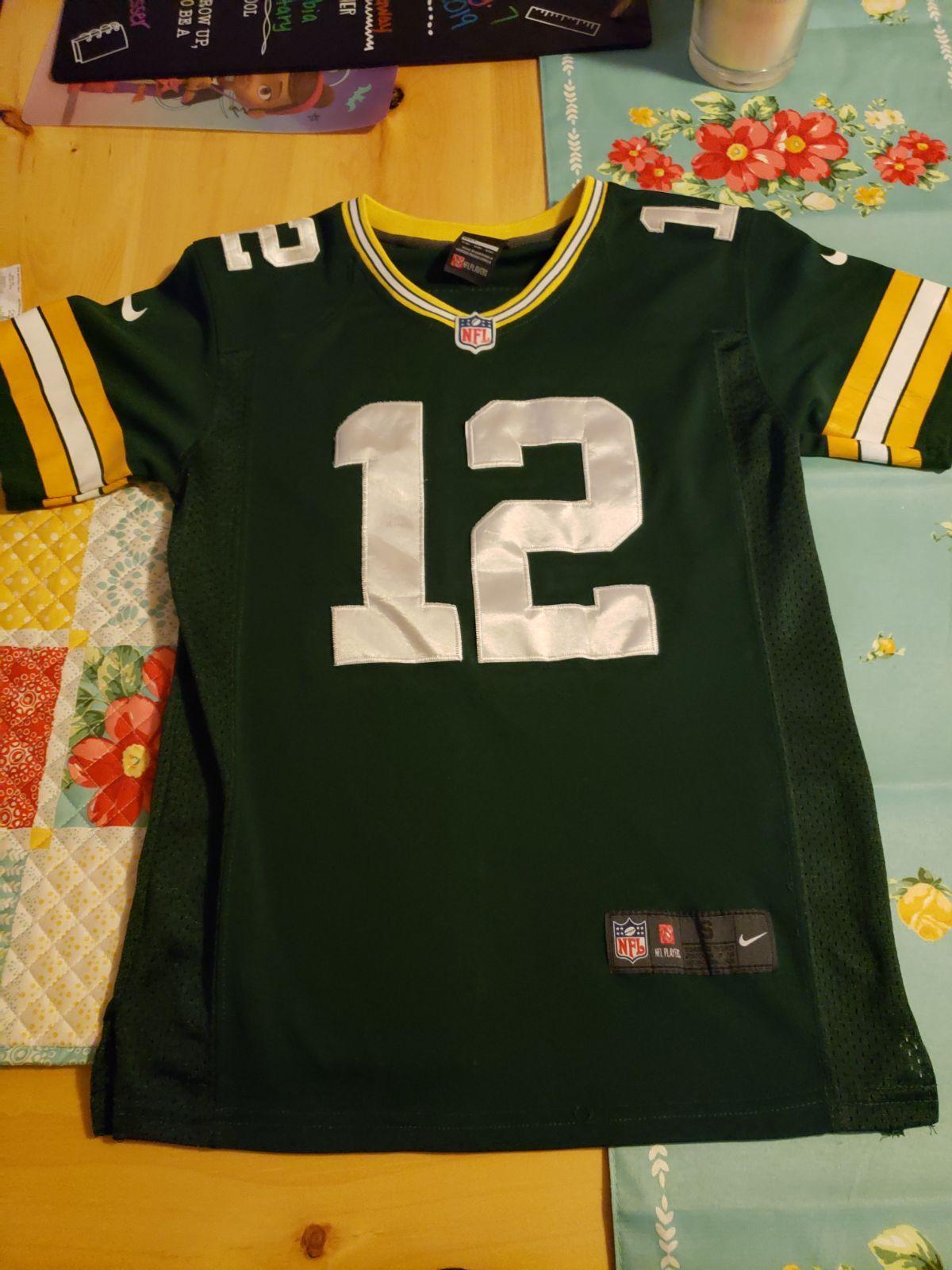 Aaron Rodgers Nike Kids Green Bay Packers Jersey Size 8 Green Bay Packers Jerseys Nike Nfl Nike Kids