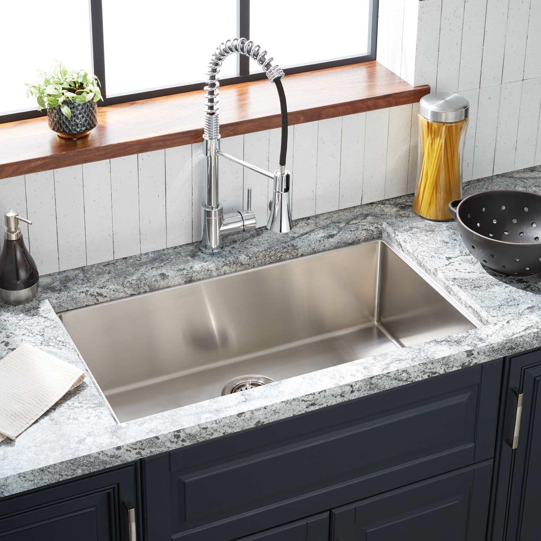 29 Ortega Stainless Steel Undermount Kitchen Sink In 2020 Stainless Steel Kitchen Sink Undermount Undermount Stainless Steel Sink Stainless Steel Kitchen Sink