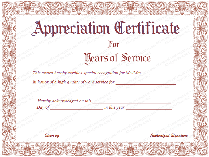 Take the time to download this years of service certificate template take the time to download this years of service certificate template today and show your employees that you care that they have lasted this long working for yadclub Images
