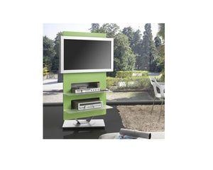 mobile porta TV moderno / girevole / in vetro | DESIGN | furniture ...