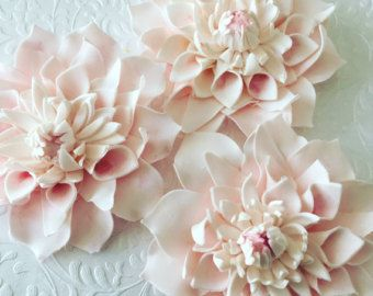 12 Camellia Wedding Fondant Flowers Fondant Camellia Edible Etsy In 2020 Fondant Flower Tutorial Fondant Flowers Flower Cake Toppers