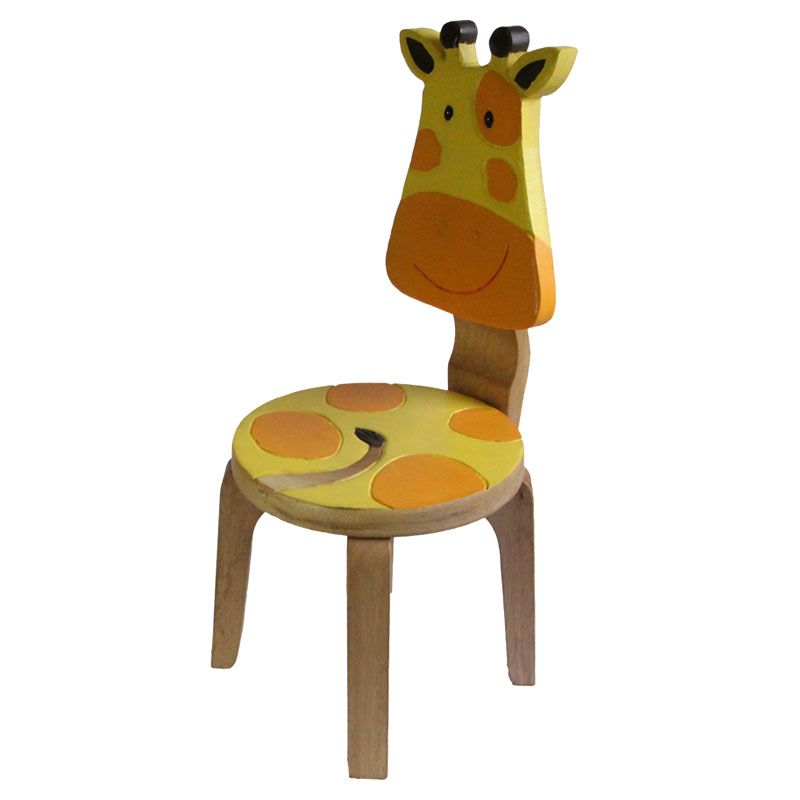 Kids Wooden Chair Set Lion Giraffe Projects And Things To Try