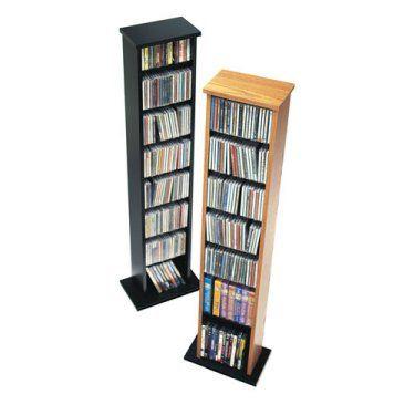 Prepac Single Multimedia Storage Tower Media Tower Prepac