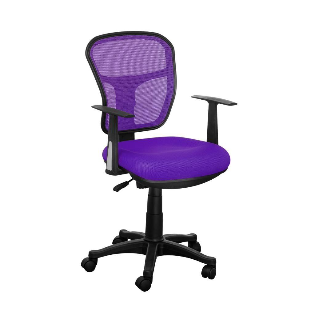 Purple Desk Chair With Arms Office Chair Stylish Office Chairs Mesh Office Chair