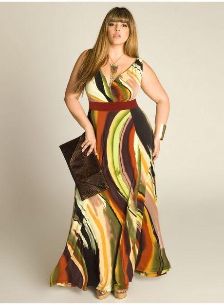 Lange jurk grote maten