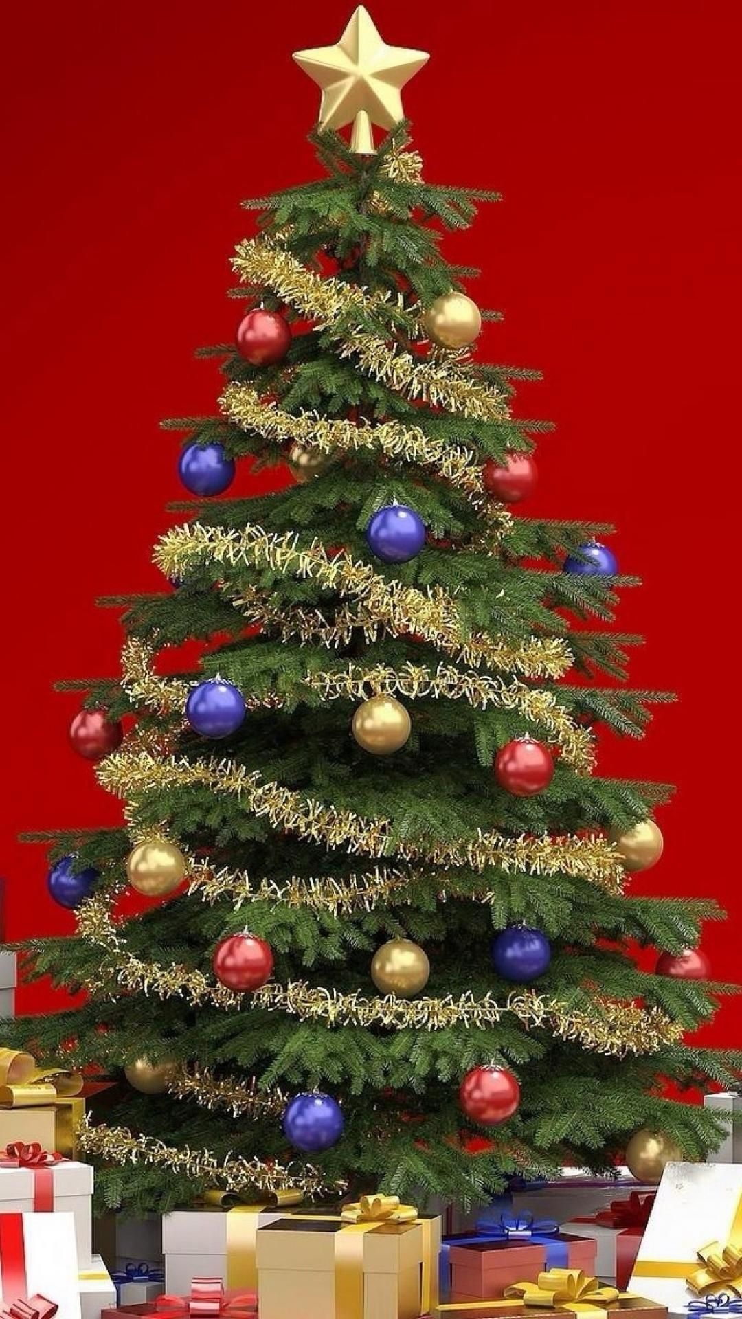 Presents Around Christmas Tree iPhone 6 wallpaper (With