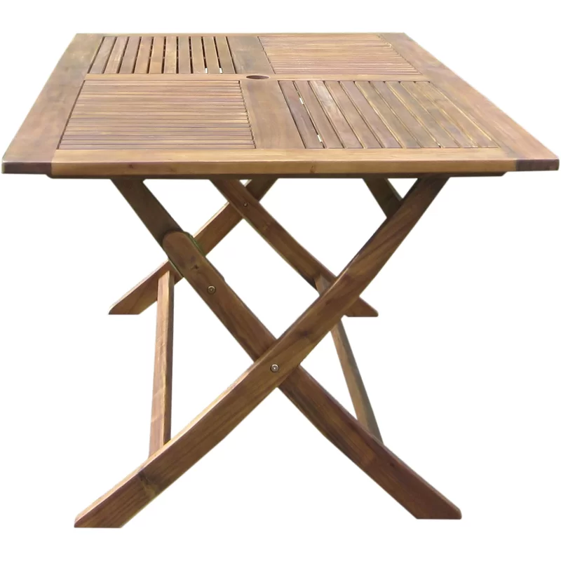 Harmond Folding Solid Wood Dining Table Folding Dining Table