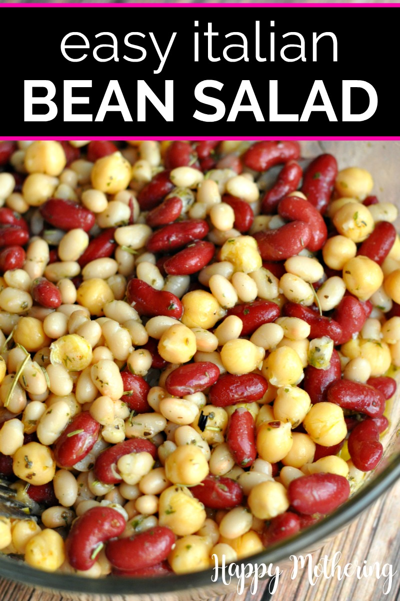 Quick Easy Italian Three Bean Salad Recipe