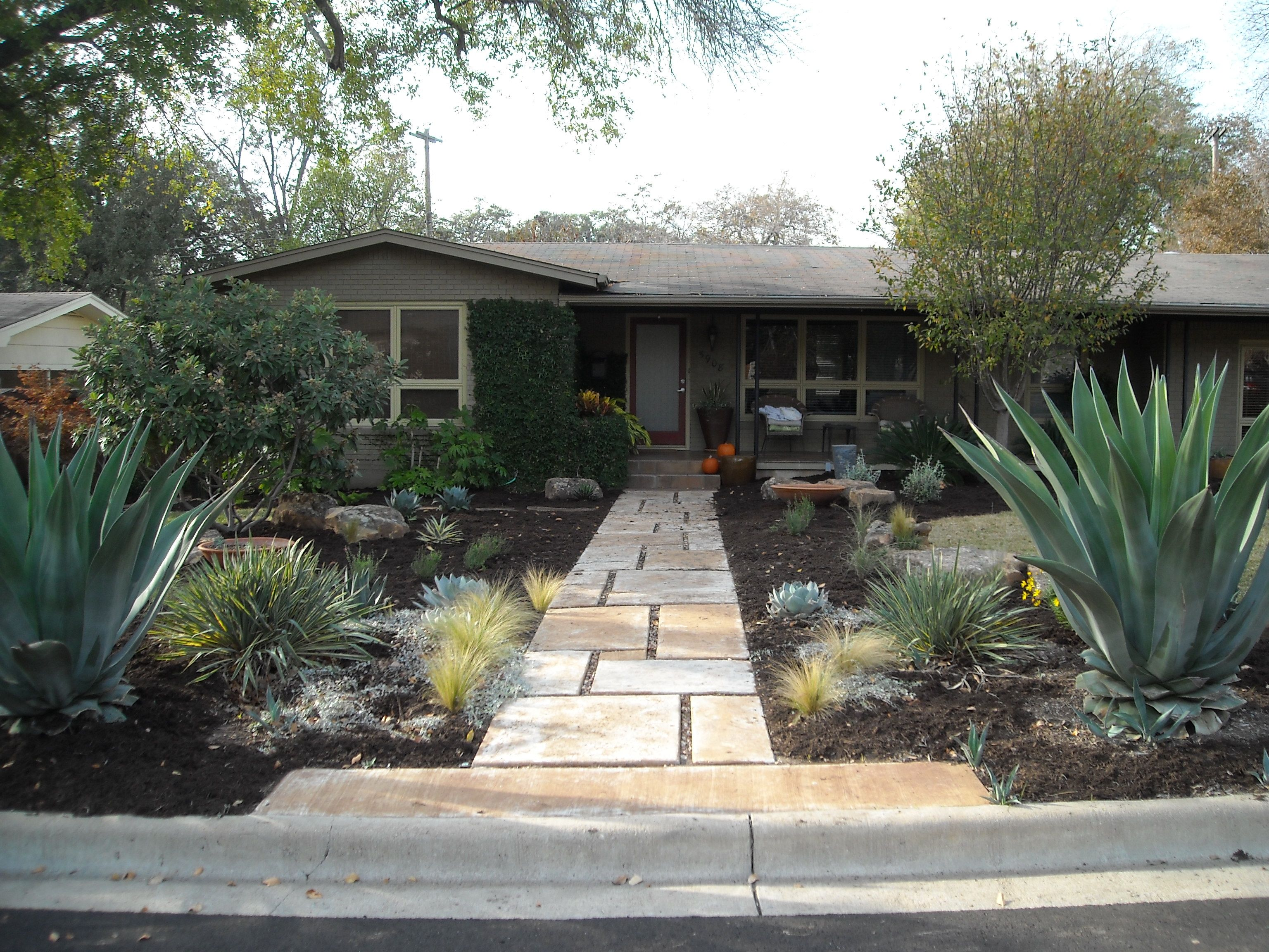 As you can see he had the base of a good landscape with his ... Ranch House Design Ideas Xeriscape on planting design ideas, drought tolerant design ideas, arid landscape design ideas, commercial design ideas, tree design ideas, concrete design ideas, education design ideas, fire pits design ideas, gravel design ideas, stone design ideas, diy design ideas, lawn design ideas, gardening design ideas, texas design ideas, family design ideas, cactus design ideas, dryscape ideas, xeriscaping ideas, formal design ideas, winter design ideas,