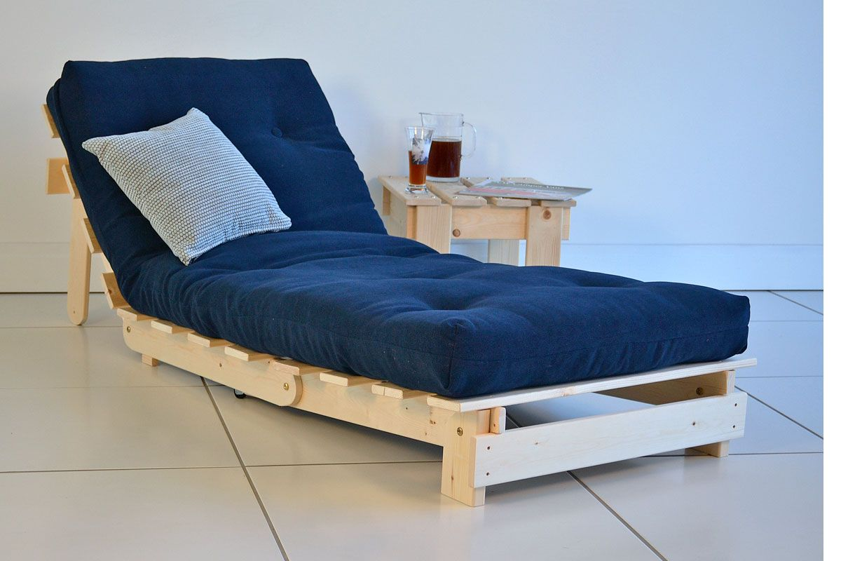 Glamorous Twin Size Futons Chair That Turns Into A Bed Long Dark Blue