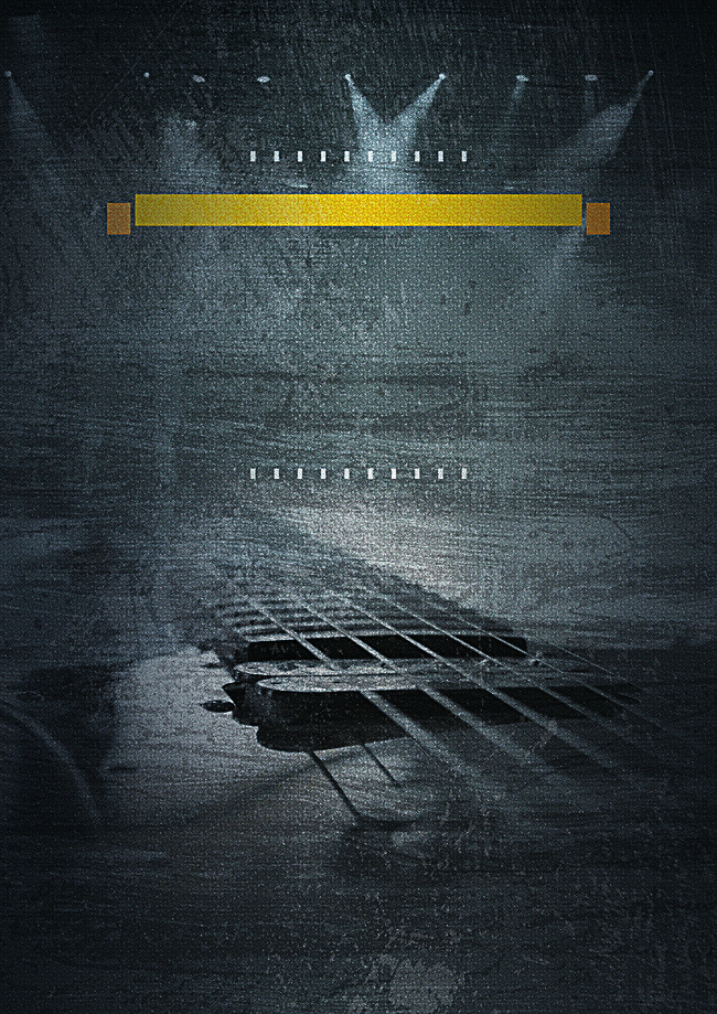 Black Music Poster Background Design