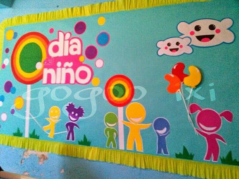 Periodico mural dia del ni o mis trabajos pinterest for Diario mural escolar