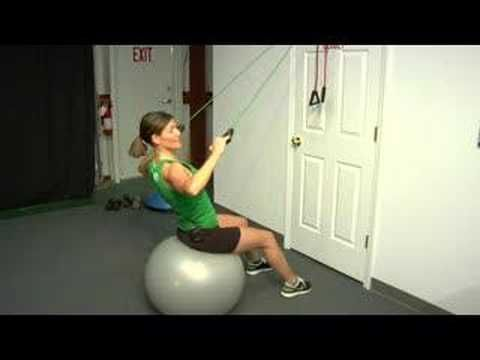 lat pull downs  home using resistance bands and a door