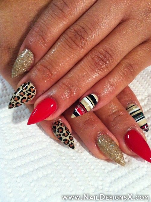 stiletto nail art » Nail Designs & Nail Art I would leave the pinky ...