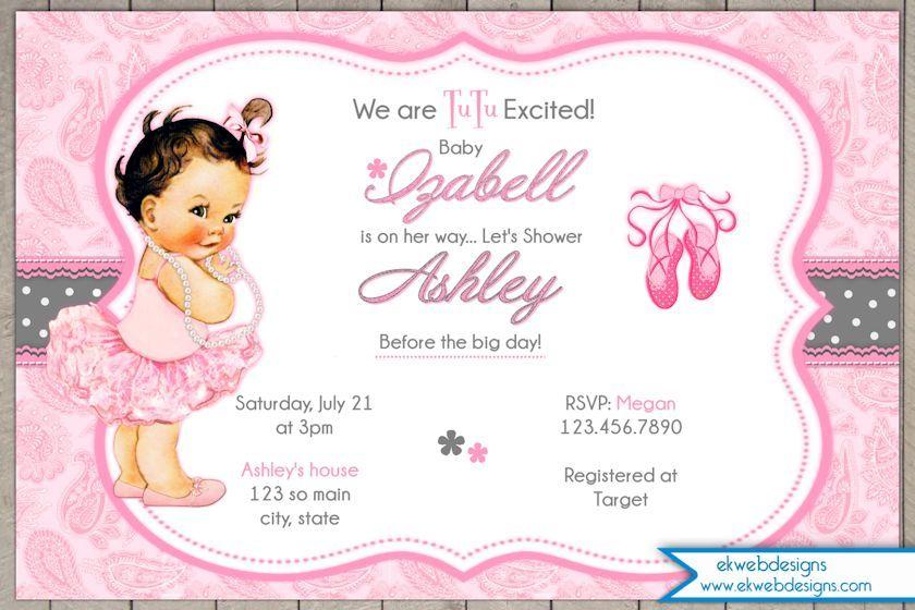 Httpekwebdesignsbaby showertutu girl baby shower invitation httpekwebdesignsbaby showertutu girl baby shower invitation tutu excited vintage baby shower invitation filmwisefo