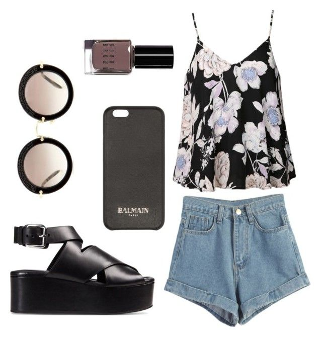 """Untitled #6"" by nadia-alecu ❤ liked on Polyvore featuring Ally Fashion, WithChic, Alexander Wang, Balmain, Miu Miu and Bobbi Brown Cosmetics"