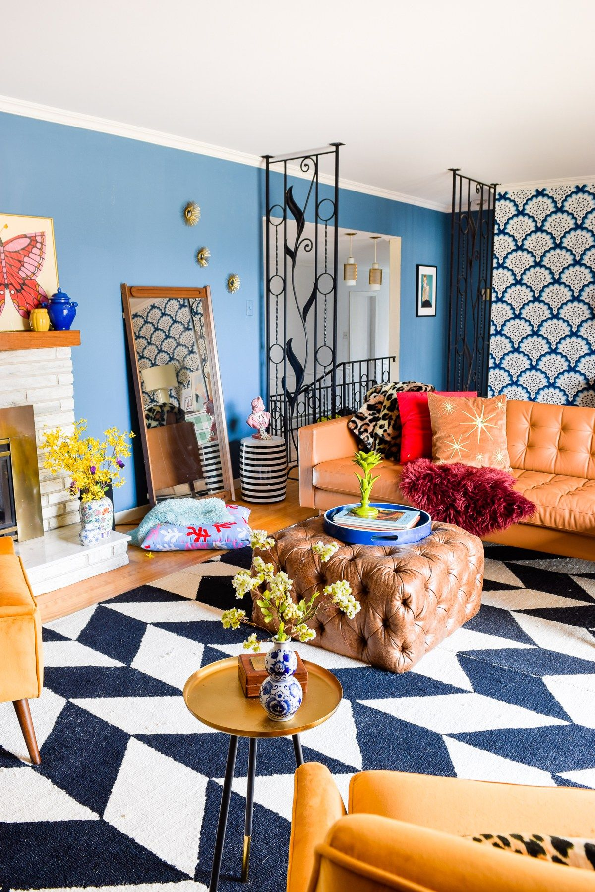 Mid Mod Eclectic Living Room Colourful Living Room Decor Eclectic Living Room Colourful Living Room