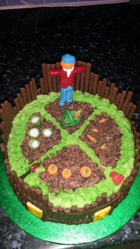 My Version Of An Allotment Cake Happy Birthday Susan My Cakes