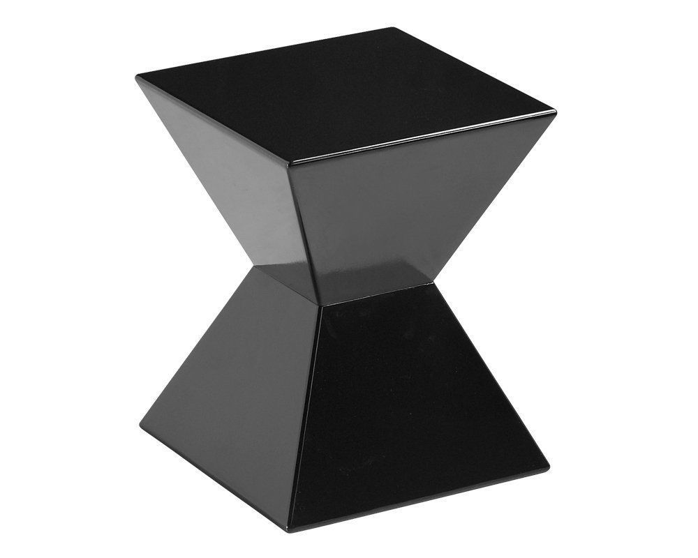 Details About Contemporary Accent Table Squared Hourglass Side Table Minimal Stool Furniture End Tables Side Table Minimal Side Table