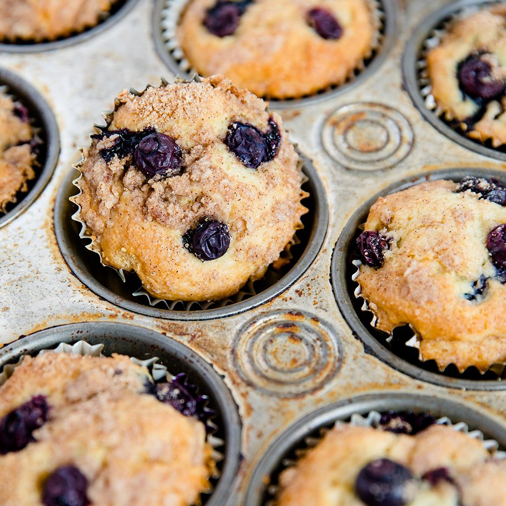 Blueberry Sour Cream Coffee Cake Muffins Recipe Sour