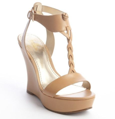 ca929f5f3920 Blonde Leather Tstrap Platform Wedge Sandal - Lyst
