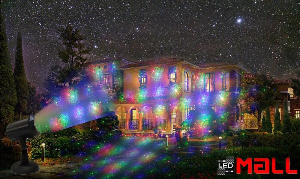 blue red green led laser christmas lights projector outdoor ledmall - Red And Green Led Christmas Lights
