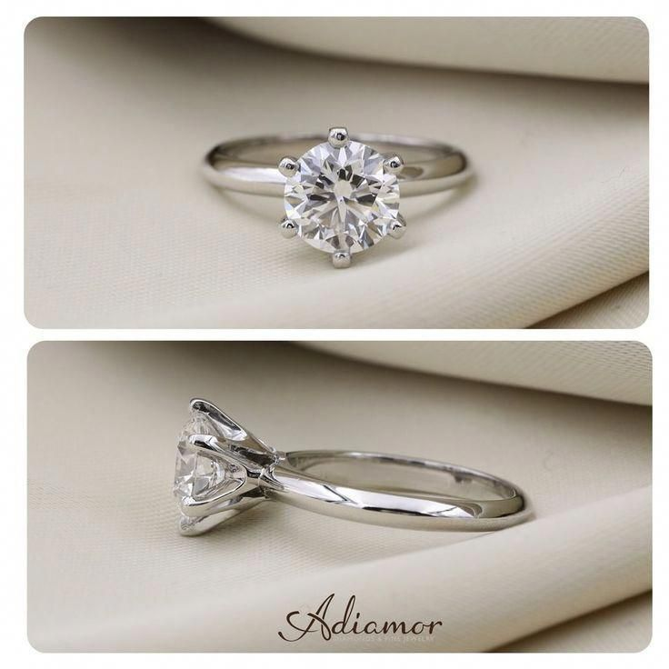 The perfect backdrop for solitaire engagement rings