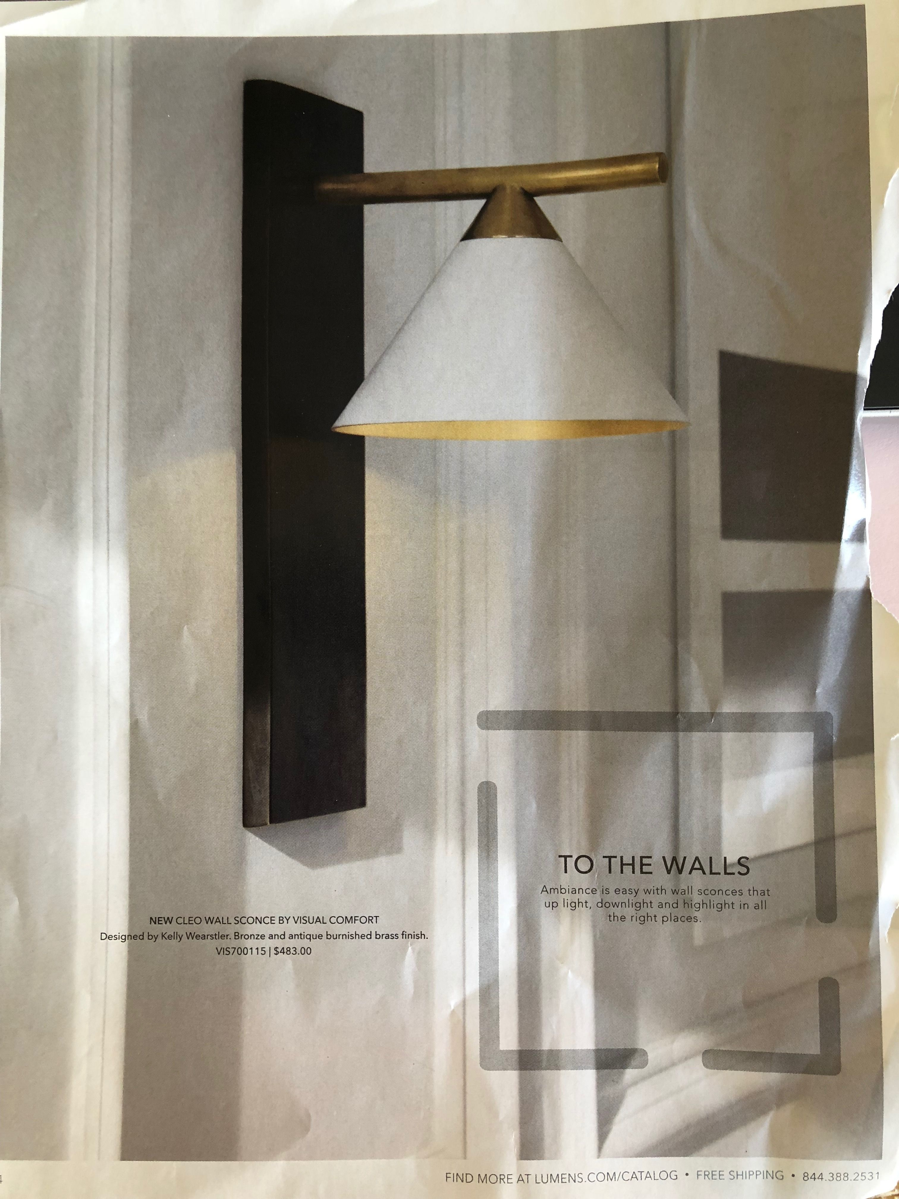 Cleo Wall Sconce By Visual Comfort Wall Lights Sconces Wall Sconces