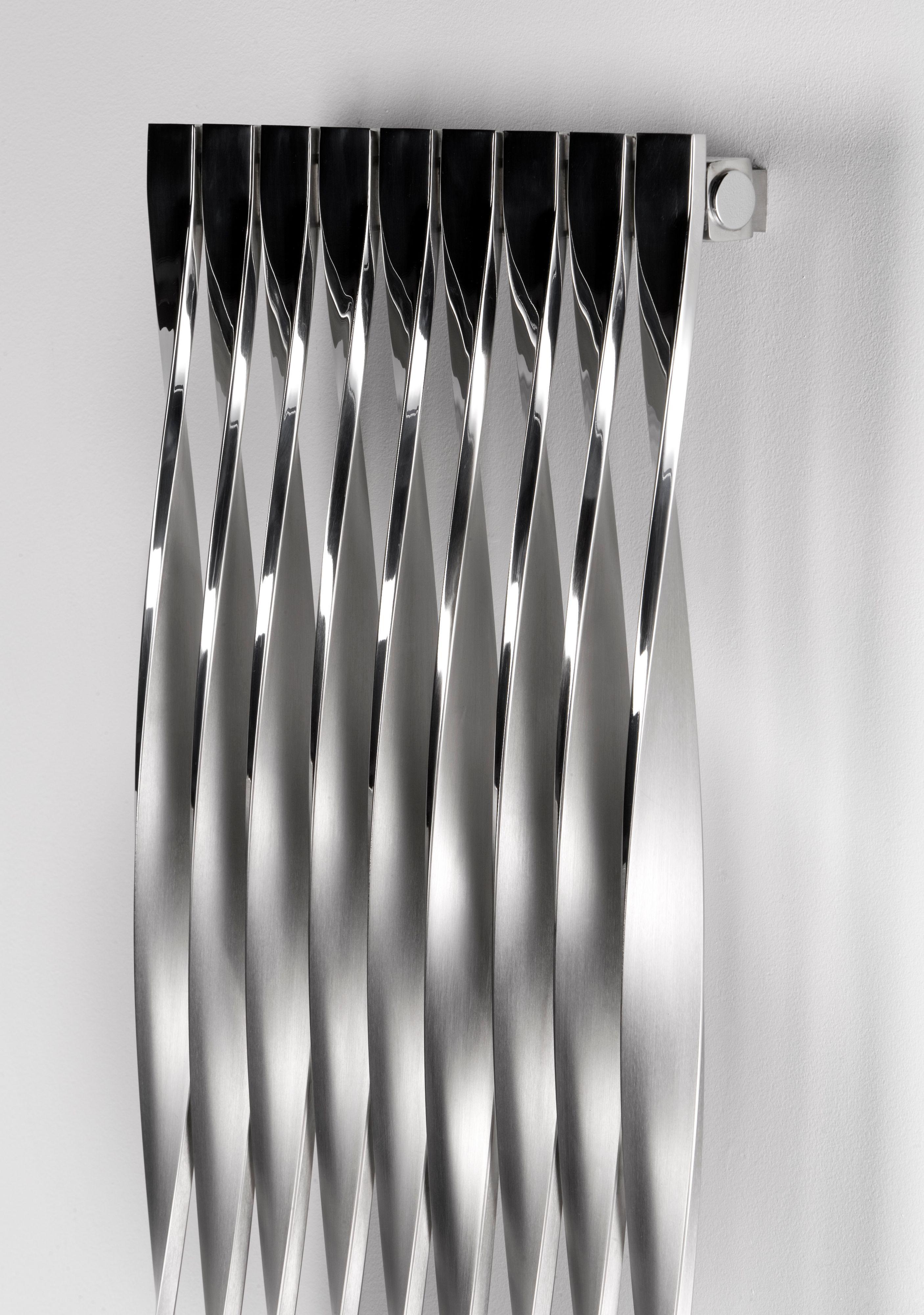 Best Corkscrew Vertical Radiator Brushed Polished H 1500 Mm 400 x 300