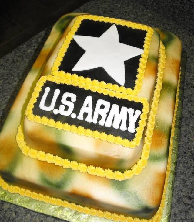 US Army Star birthday cakes Pinterest Army Birthday cakes and