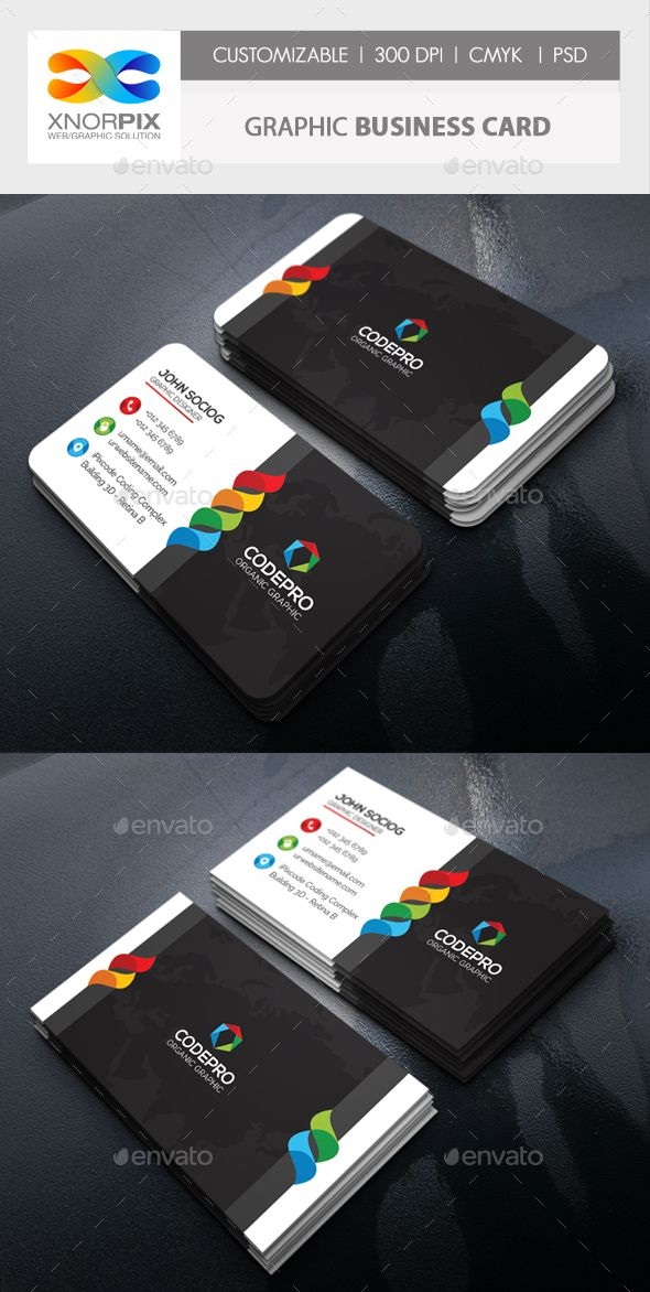 Graphic Business Card | Pinterest | Business cards, Brochures and ...