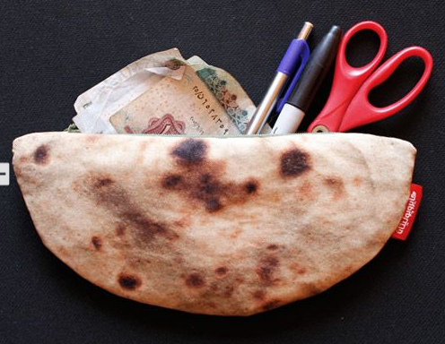 pouch that looks like pita bread whhhat