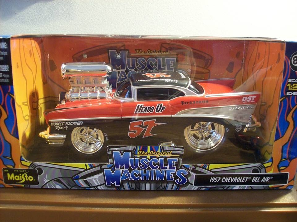 1/24 - Muscle Machine 57 Chevy | Muscle toys | Pinterest | Muscles ...