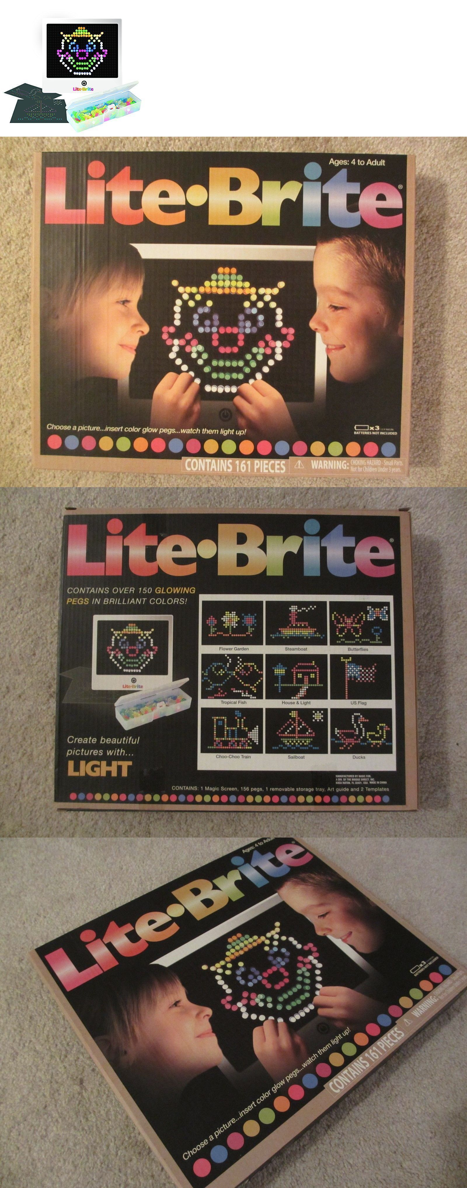 lite brite 152912 lite brite magic screen set pegs templates storage tray light bright box hasbro buy it now only 3999 on ebay