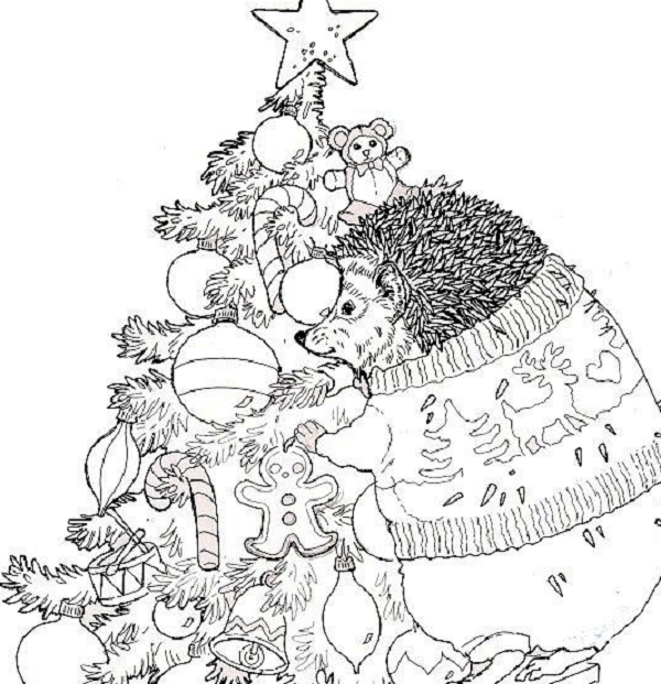 christmas coloring pages jan brett
