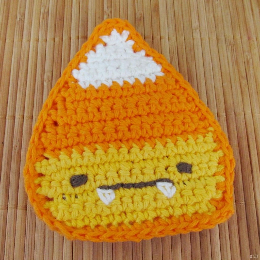 Free Crochet Pattern: Candy Corn Tawashi | crochet patterns ...