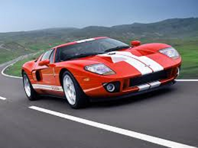 2005 Ford Gt Coupe Burnt Orange With White Stripes Ford Gt Ford Gt 2005 Best Muscle Cars