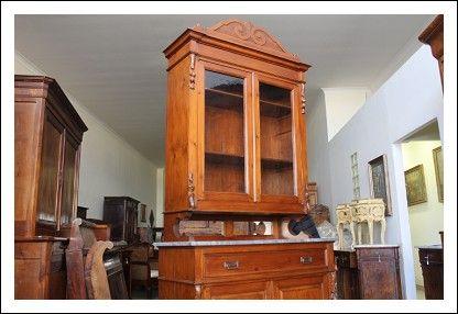Credenza Con Vetrina Fine 800 : Antica vetrina credenza dispensa doppio corpo fine toscana