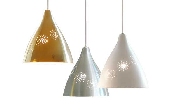 Lisa hanging lamps m m available in white brass and aluminium finish by lisa johansson pape innolux