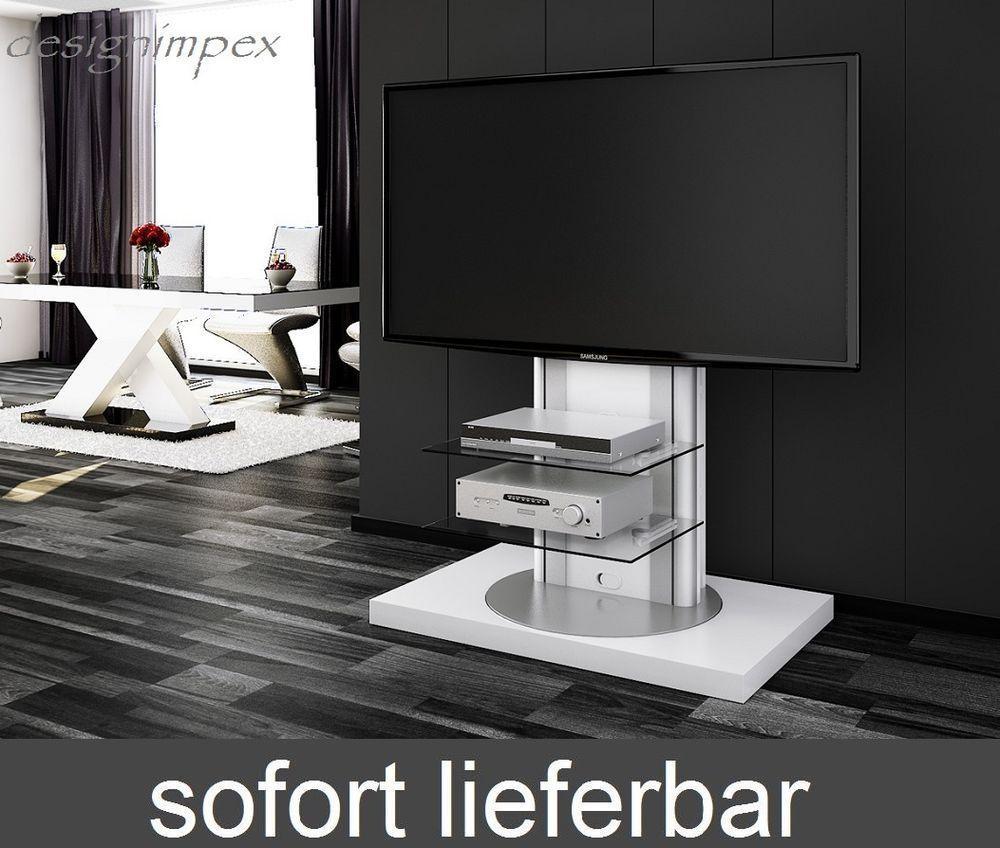 Fernsehtisch H 777 Wei Hochglanz Tv Schrank Tv M Bel Tv Rack Lcd  # Decoration Tv Plasma Et Table