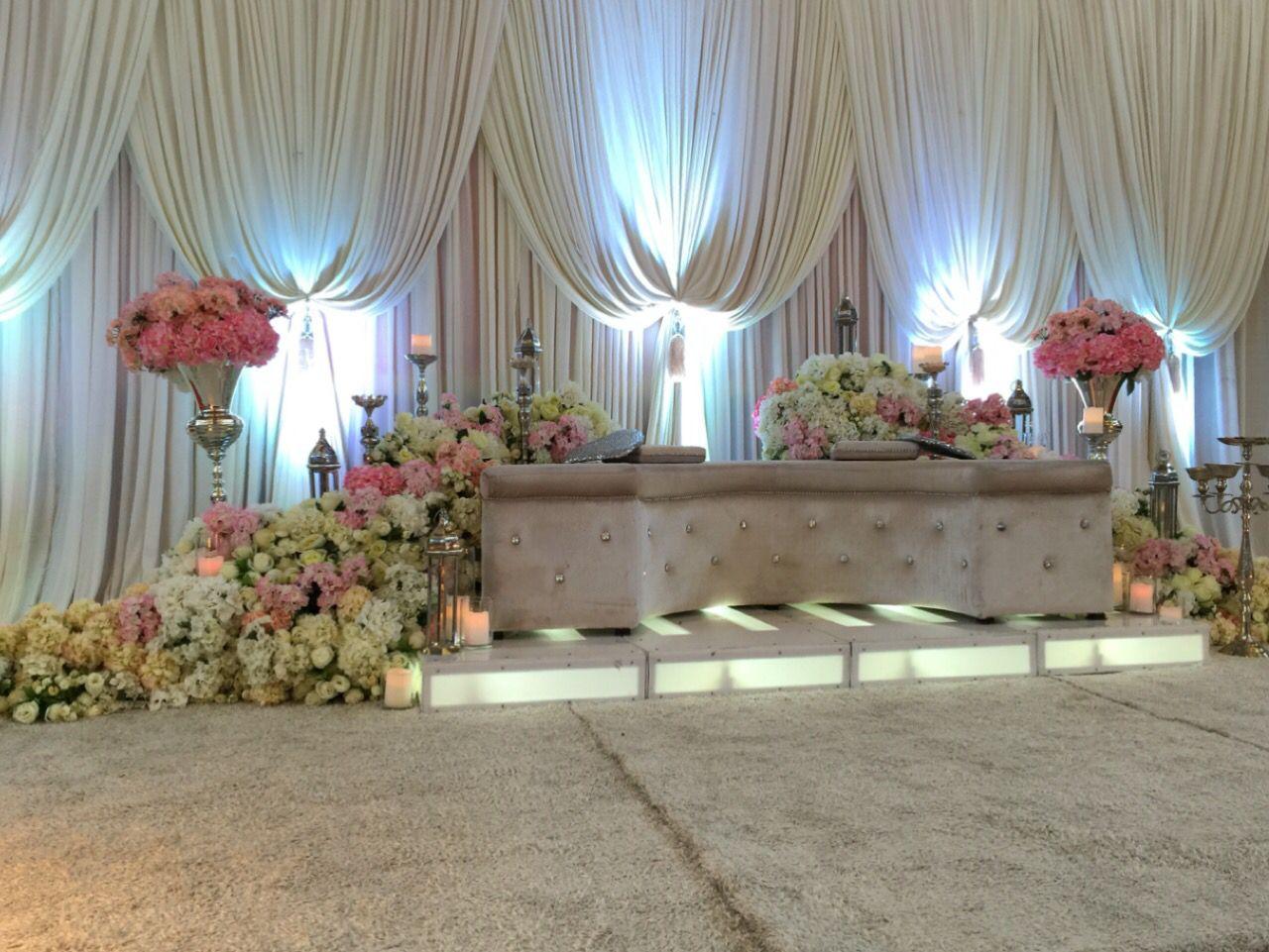 Simple wedding stage decoration at home  ZARA WEDDING CONCEPT Kota Kinabalu ZARAWEDCONCEPT on Pinterest