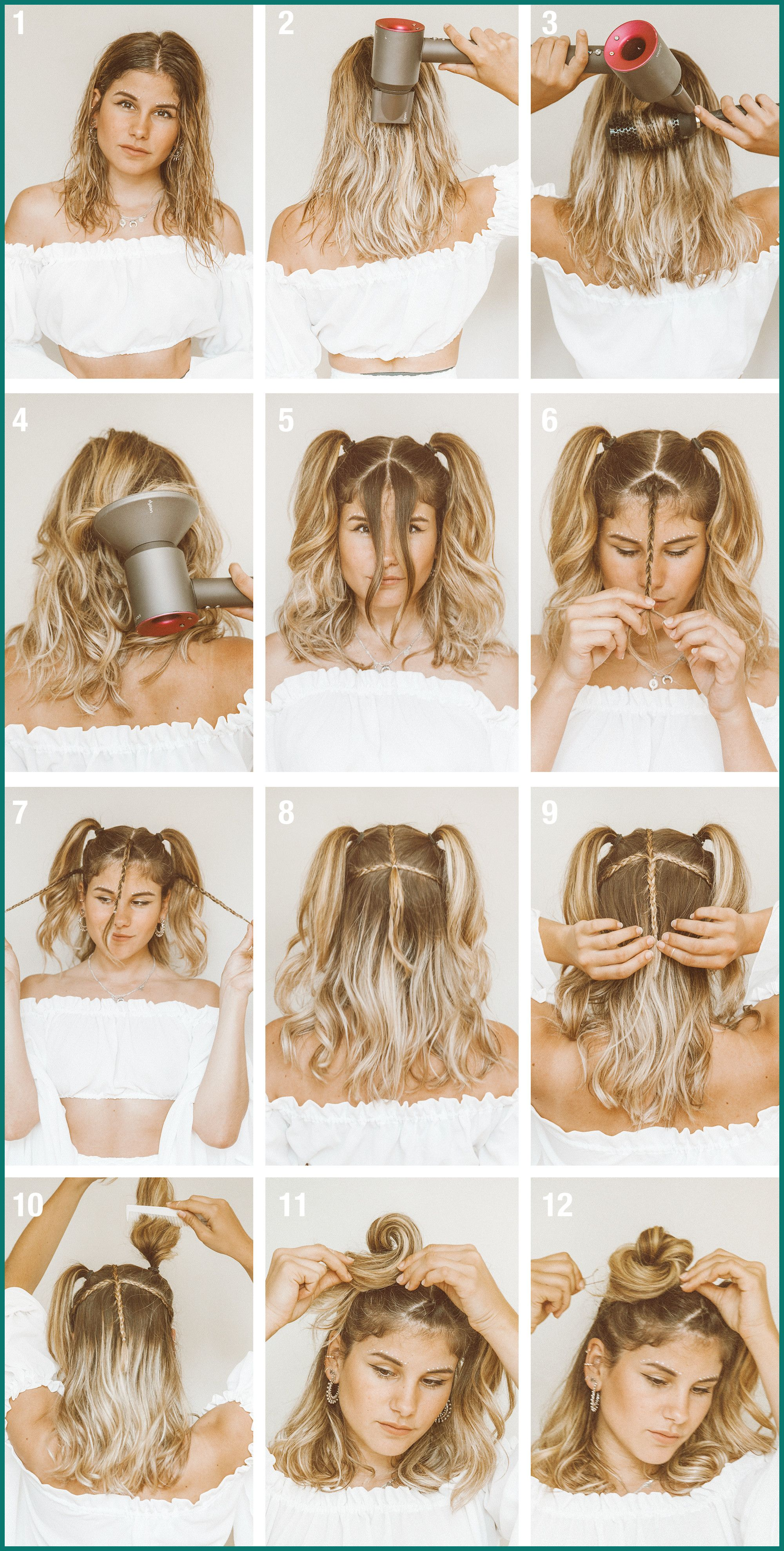How To Do Easy Hairstyles On Short Hair Bun Short Hair Styles Easy Hair Styles Easy Hairstyles