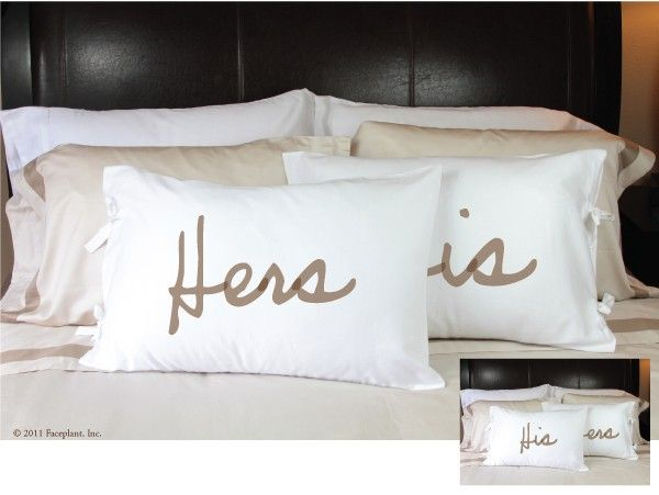 his hers pillowcases for the home pillow cases and