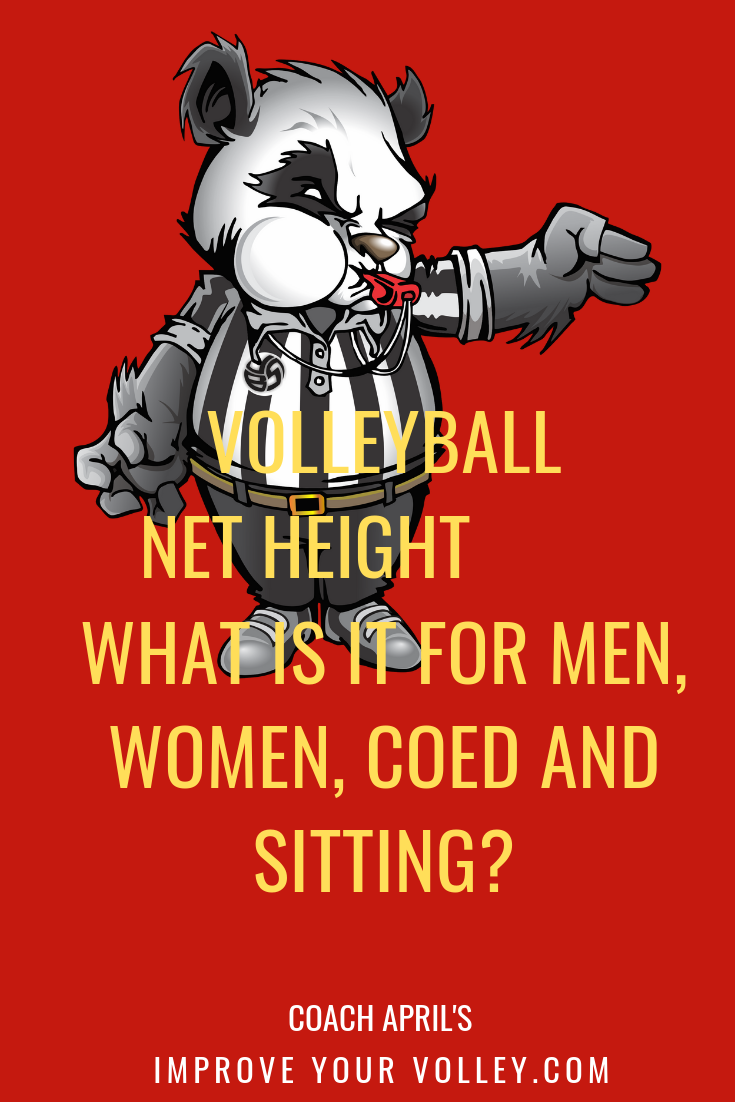 Volleyball Net Height What Is It For Men Women Coed And Sitting What S The Height Of The Voll Volleyball Rules Volleyball Net Height Volleyball Court Size