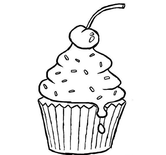 Cupcake Boyama Sayfalari Boyama Sayfalari Cupcake Sanat