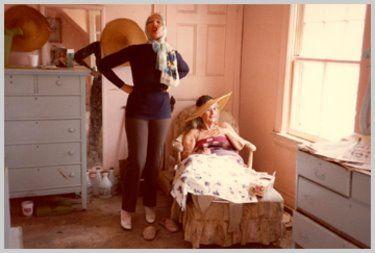 Little Edie Beale & Big Edie Beale (seated)