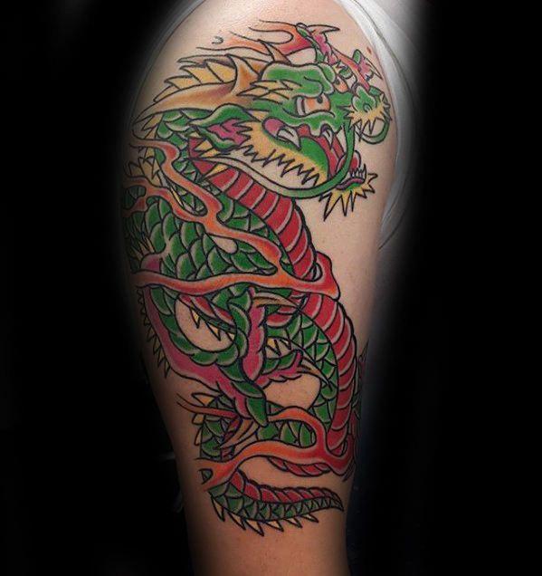 afbeeldingsresultaat voor new school dragon tattoo | 龍 | pinterest