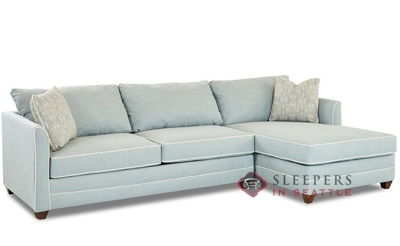 Savvy Valencia Compact Chaise Sectional Queen Sleeper Sofa ...