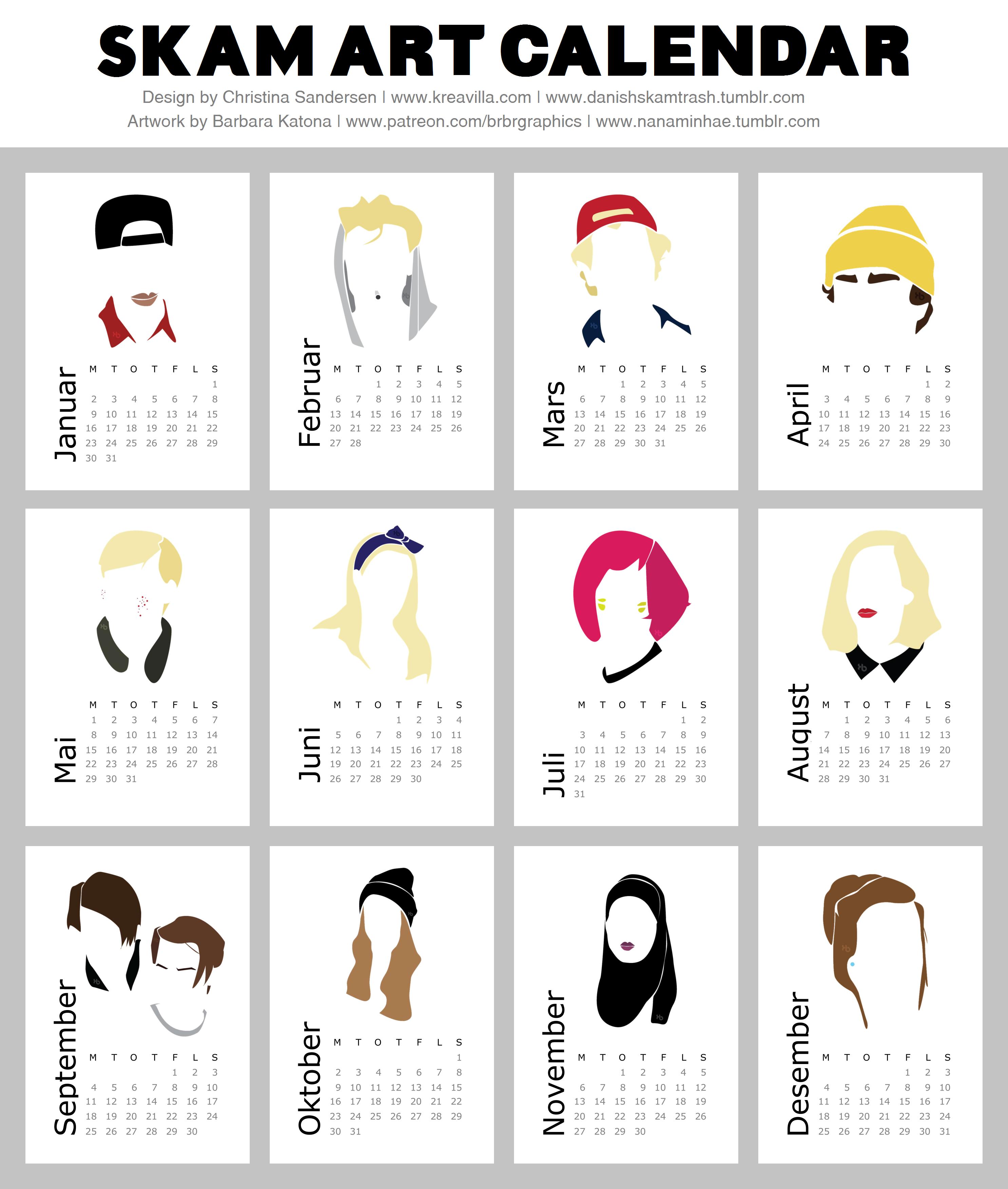 Art Calendar Book : Skam art calendar ♦series♦ pinterest