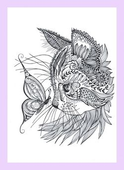 Cat Doodle Coloring Pages Doodle Jam Pinterest Tattoos Cat